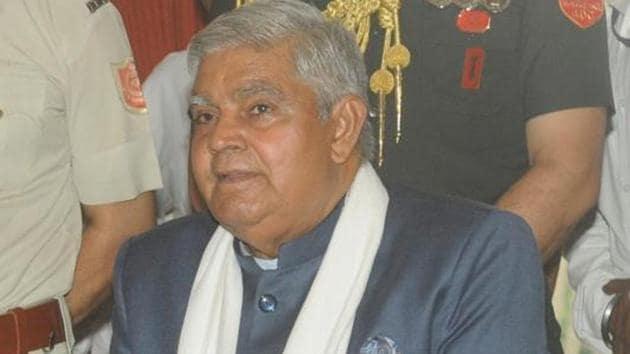West Bengal Governor Jagdeep Dhankhar.(HT file)