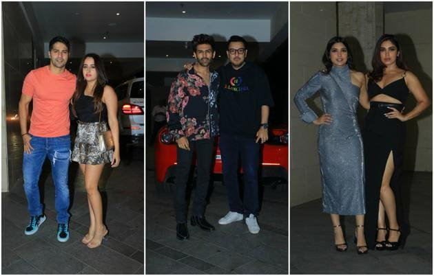 Several Bollywood celebrities were seen at Jackky Bhagnani's birthday bash.(Varinder Chawla)