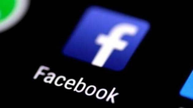 The Facebook application is seen on a phone screen.(Reuters Photo)