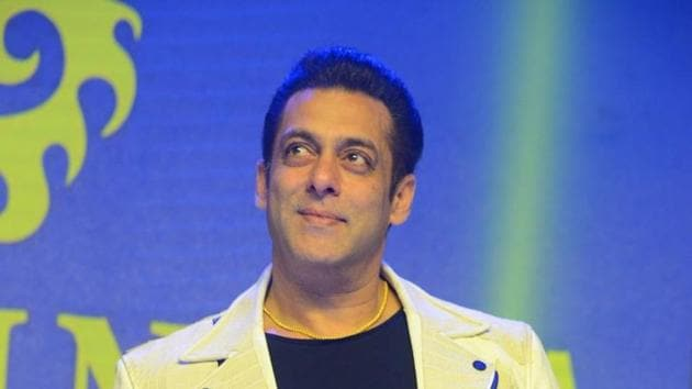 Salman Khan during the promotion of Dabangg 3 in Hyderabad.(IANS)