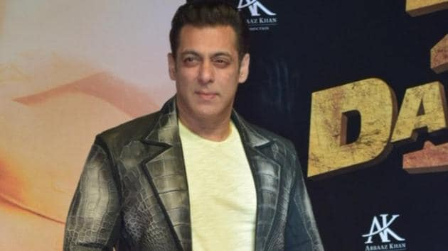 Actor Salman Khan at the screening of Dabangg 3.(IANS)