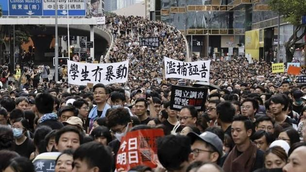 Hong Kong witnessed massive protests this year(HT File)