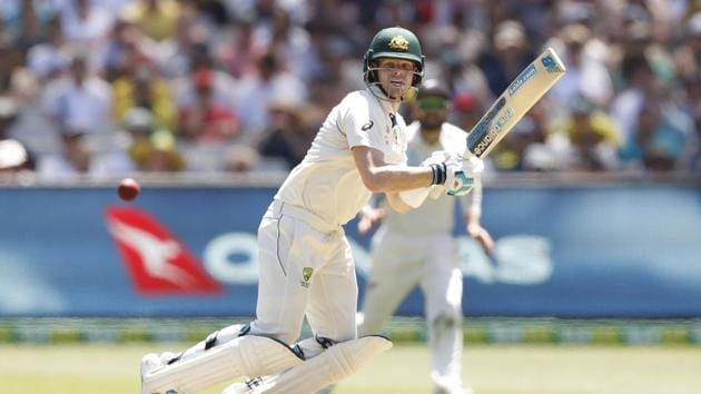 Steve Smith of Australia bats during day one of the Second Test match in the series between Australia and New Zealand at Melbourne Cricket Ground.(Getty Images)