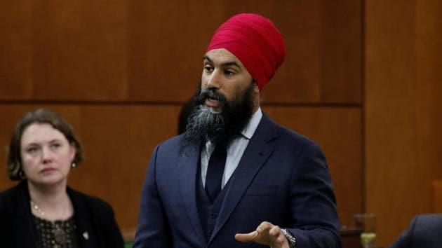 Canada's New Democratic Party leader Jagmeet Singh.(REUTERS)