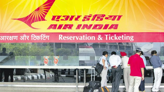 Air India (AI) has stopped issuing air tickets to government agencies on credit basis.(Sattish Bate/Hindustan Times)