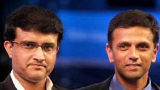 Sourav Ganguly and Rahul Dravid(PTI Photo)