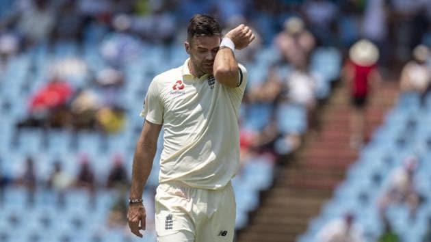England's bowler James Anderson.(AP)