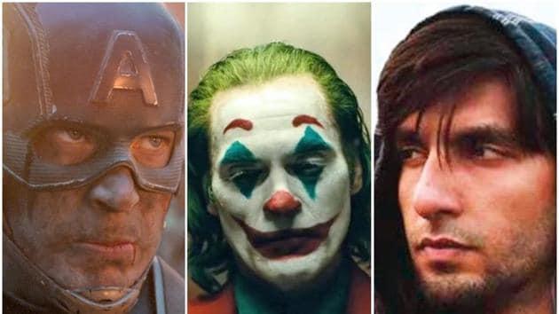 Chris Evans in Avengers: Endgame, Joaquin Phoenix in Joker and Ranveer Singh in Gully Boy.