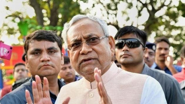 """Nitish Kumar attempted to allay fears that the new citizenship law would be used against minorities and even """"guaranteed"""" that minorities didn't need to worry as long as he was around. Later he also indicated that he wouldn't support the citizens register in Bihar.(PTI)"""