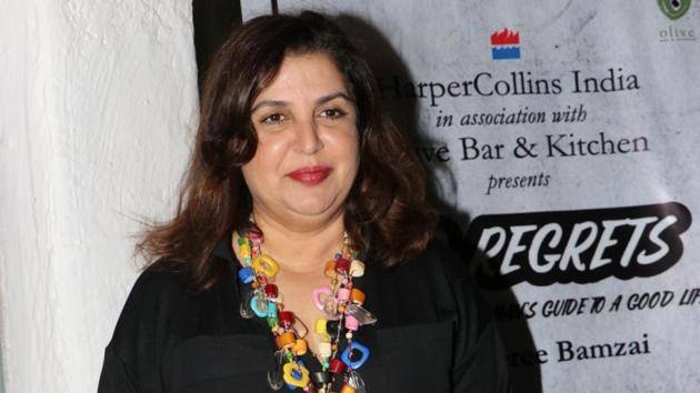 Farah Khan at the book launch of author Kaveree Bamzai in Mumbai.(IANS)
