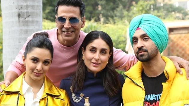 Akshay Kumar, Kareena Kapoor, Diljit Dosanjh and Kiara Advani star in Good Newwz.(IANS)