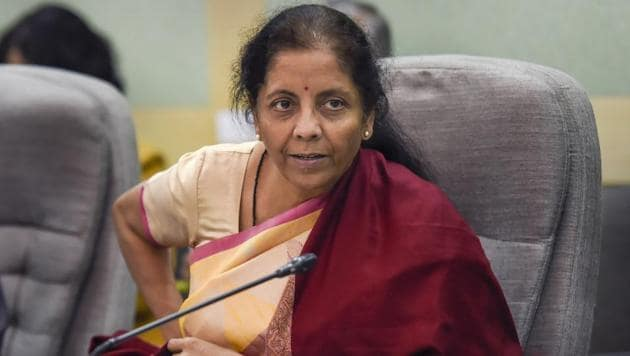 Union finance minister Nirmala Sitharaman on Thursday released a postage stamp to commemorate the service and contribution of the Directorate of Revenue Intelligence (DRI), according to a press release by the government.(PTI Photo)