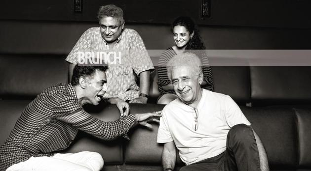 (Clockwise from top) Piyush Mishra, Faezeh Jalali, Naseeruddin Shah and Makarand Deshpande talk about the craft and the commerce of theatre and everything in between as they meet at the iconic Prithvi Theatre(Brahms Dirsipo)