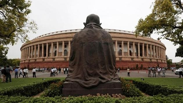 Indian parliament building is pictured on the opening day of the Parliament session in New Delhi.(Photo: Reuters)