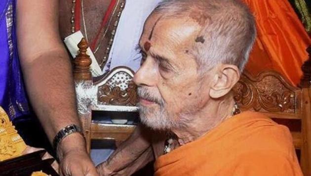Pejavara Mutt Seer Vishwesha Teertha Swami(PTI file photo)