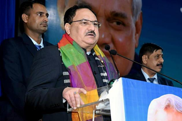 """Nadda said that """"majority of these people are dalit and harijans"""" and lamented that dalit leaders are opposing the amended citizenship law.(ANI photo)"""