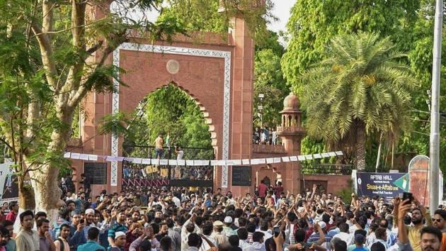 AMU was one of the sites of protests against the amended citizenship law and alleged police action on students of Delhi's Jamia Millia Islamia.(PTI file)