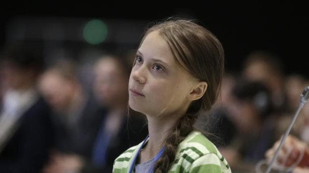 Greta Thunberg on Saturday jumped on the bandwagon to sum up 2019 in just five words.(AP Photo)