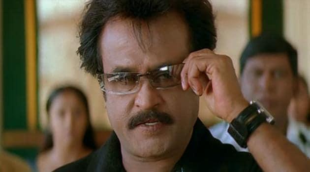 Rajinikanth in a still from horror comedy Chandramukhi.