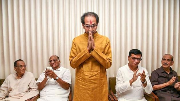 The Sena, headed by Thackeray, is expected to retain some of its ministers in the previous government with the Bharatiya Janata Party (BJP).(PTI Photo)