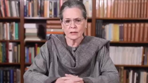 Congress president Sonia GAndhi. (HT photo)