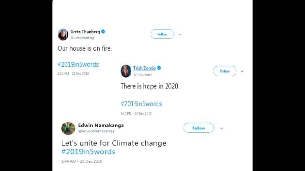 Greta Thunberg posts strong message for #2019in5words.(Twitter)