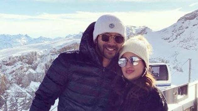 Varun Dhawan and girlfriend Natasha Dalal are in Switzerland.