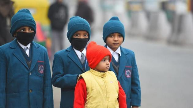 A temperature of minus four degrees Celsius was recently recorded in Rajasthan's Sikar.(HT file)