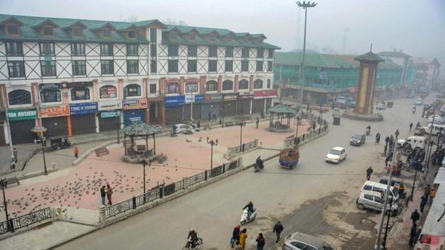 A view of the roads in Srinagar(PTI)
