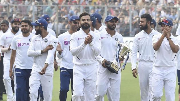 Virat Kohli and the Indian test side.(PTI)