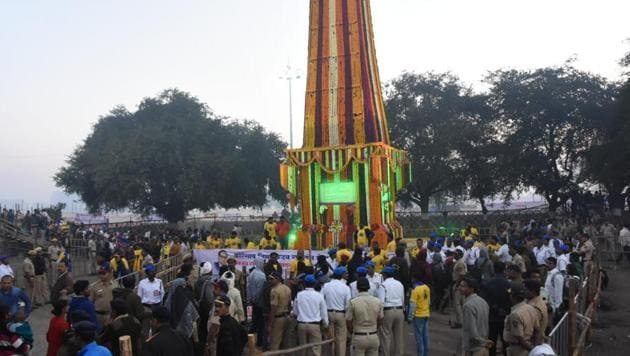 Every year, Dalits from across Maharashtra gather at the Bhima Koregaon's victory monument of the third Anglo–Maratha War of January 1, 1818, in which East India Company forces defeated the Peshwas with the help of soldiers from the Dalit community.(HT Phot)