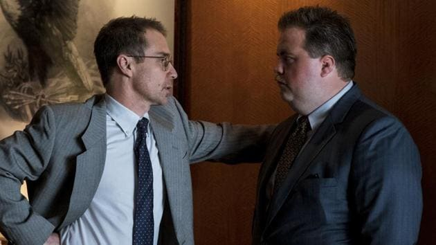 Richard Jewell movie review: This image released by Warner Bros. Pictures shows Sam Rockwell, left, and Paul Walter Hauser in a scene from Clint Eastwood's new film.(AP)