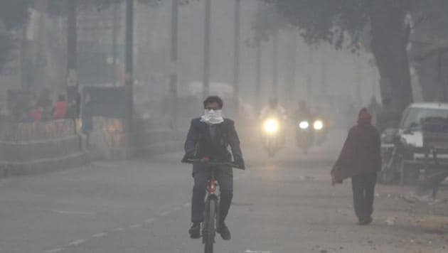 Air quality in the city deteriorated by 1.3 times between October and November in 2019.(HT PHOTO)