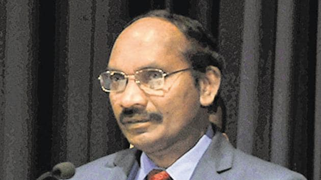 """Ahead of the space agency's attempt to make a soft landing on the moon, ISRO chief K Sivan had described the countdown to the final descent as """"15 minutes of terror"""".(HT PHOTO.)"""