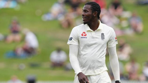 England's Jofra Archer during the match.(REUTERS)