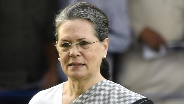 Congress president Sonia Gandhi called upon the Indian government to immediately take up the issue with Pakistani authorities to ensure the safety of pilgrims at Gurdwara Nankana Sahib.(HT PHOTO.)