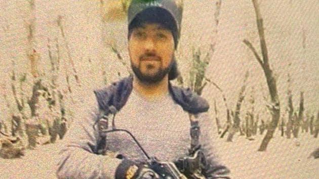 File photo of Lashkar militant Nisar Ahmad Dar.(ANI photo)