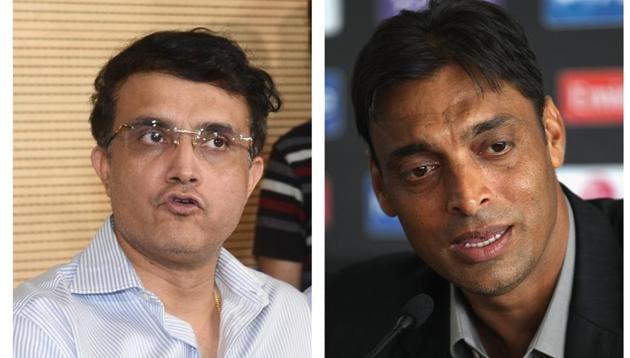 Sourav Ganguly(L), Shoaib Akhtar(R)(HT Collage)