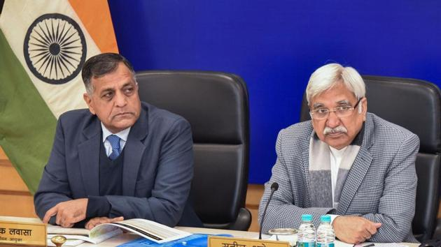Chief Election Commissioner Sunil Arora today announced the dates for Delhi Assembly election.(PTI Photo)