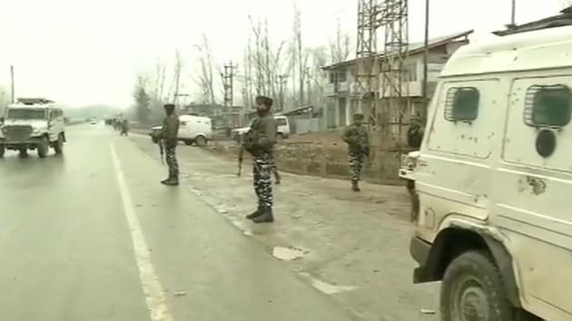 The militant was asked to surrender by the security forces but he chose to engage them in a gunbattle, police said.(ANI / Twitter)
