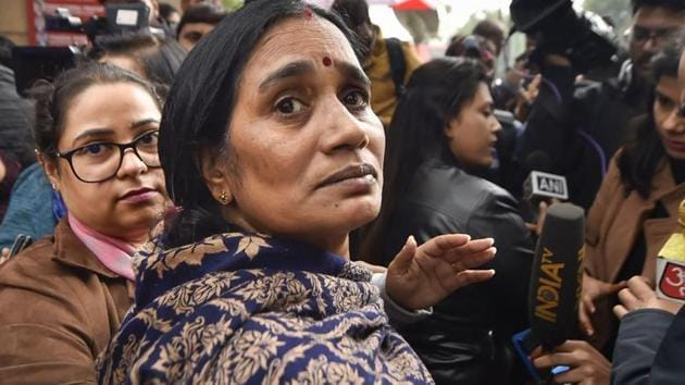 The mother of 23-year-old woman who was gang-raped in a moving bus on December 16, 2012.(PTI Photo)