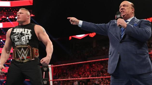 Brock Lesnar with manager Paul Heyman.(WWE)