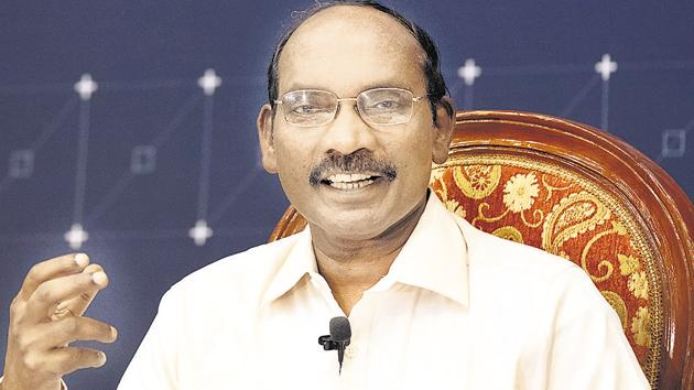 K. Sivan, chairman of the Indian Space Research Organisation (ISRO).(Bloomberg photo)