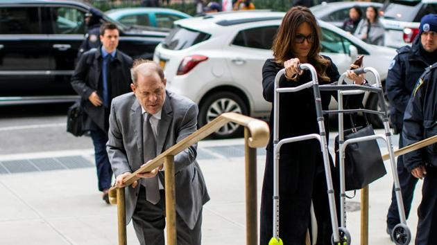 Film producer Harvey Weinstein arrives to the New York Criminal Court after a break for his sexual assault trial in the Manhattan borough of New York City, New York, U.S.(REUTERS)