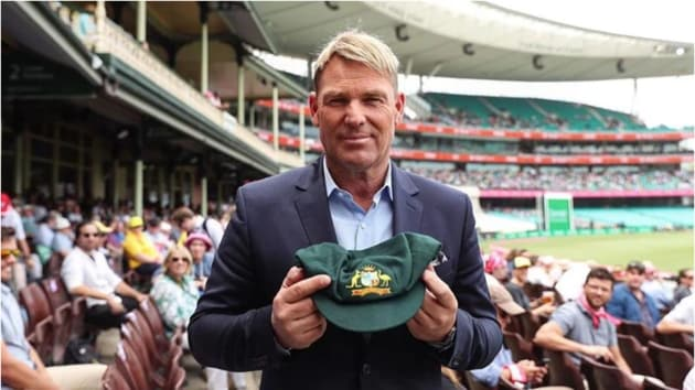 Shane Warne with his baggy green(Shane Warne Instagram)