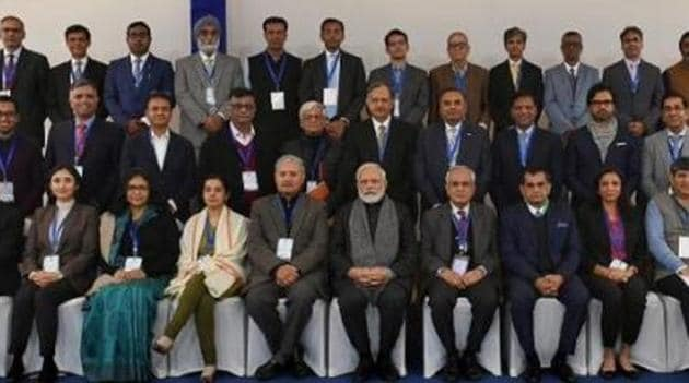 Prime Minister Modi has held as many as 12 brainstorming meetings with different stakeholders over various issues affecting the Indian economy.(TWITTER.)