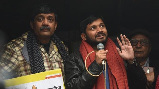 """According to the JNU administration, two or more student organisations fought among themselves on January 5. """"Then why did the violent mob attack and beat up teachers?"""" Kumar asked on Thursday.(HT PHOTO.)"""