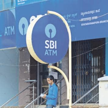 SBI's shares rose as much as 3.5% in a Mumbai market that was trading 0.1% lower as of 0830 GMT.(Hemant Mishra/Mint)