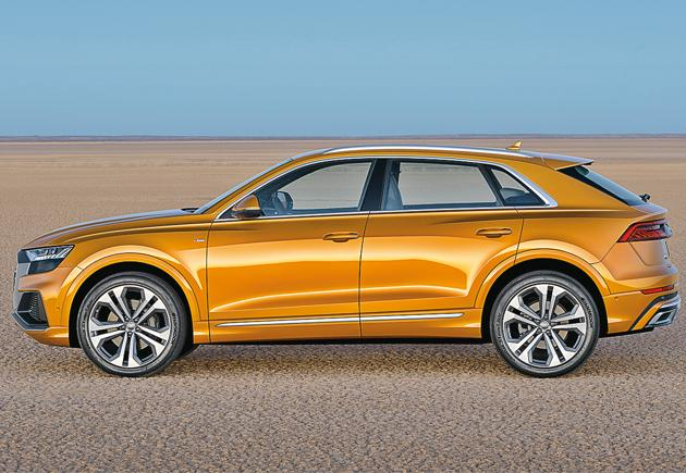 Compared to the Q7, the Q8 is marginally shorter and lower, though it's slightly wider