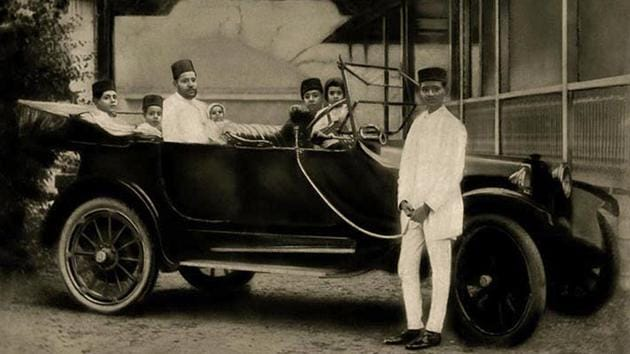 This picture from 1918 shows Kuwait native Muhammad Salem al-Sudairawi, one of the wealthiest Arabs in Bombay. The photo was taken at his summer home in Poona.(Courtesy: Kuwait History & Gulf South Asia.)
